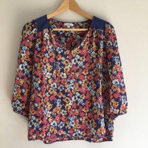 Silk Floral Top